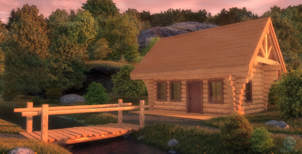 Cabin in the wood - DUSK