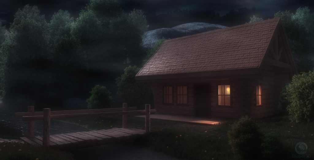 Cabin in the wood - NIGHT