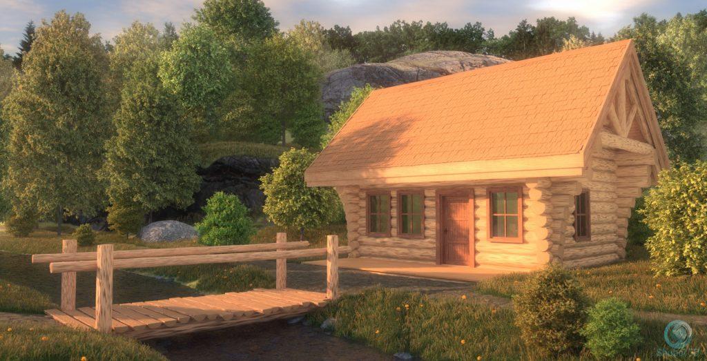 Cabin in the wood - SUNRISE