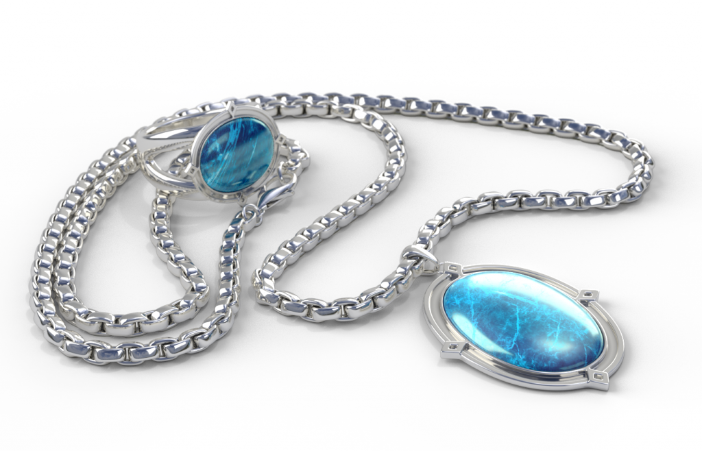 blue howlite ring and necklace