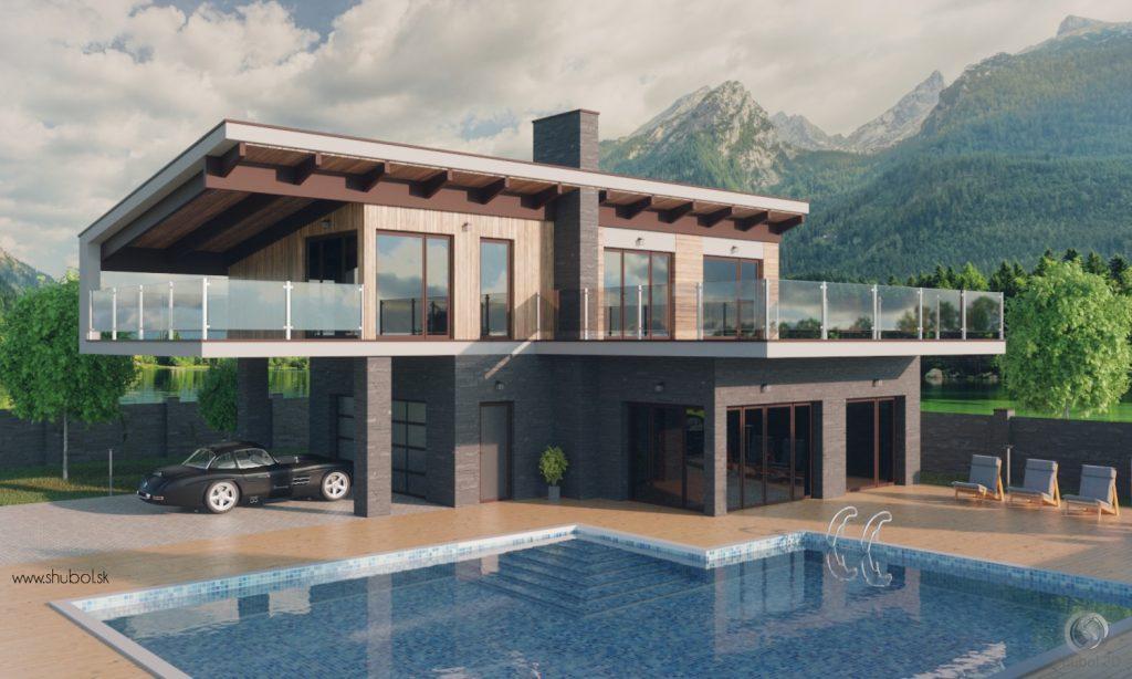 luxury house 3D visualôization