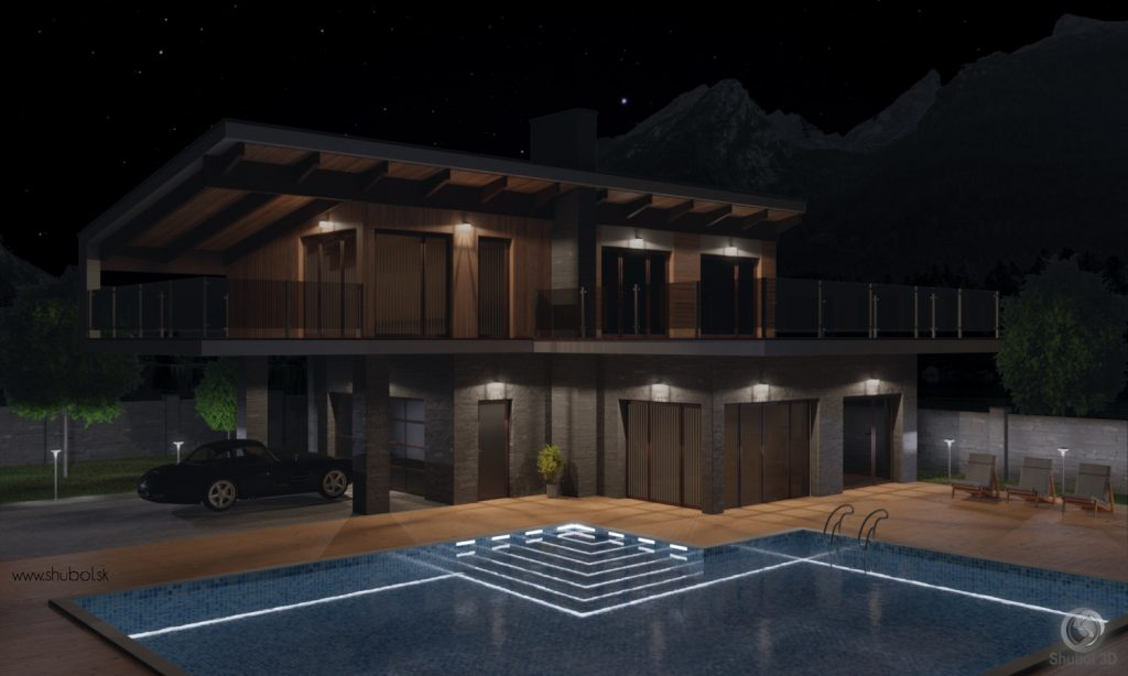 luxury house 3D visualization