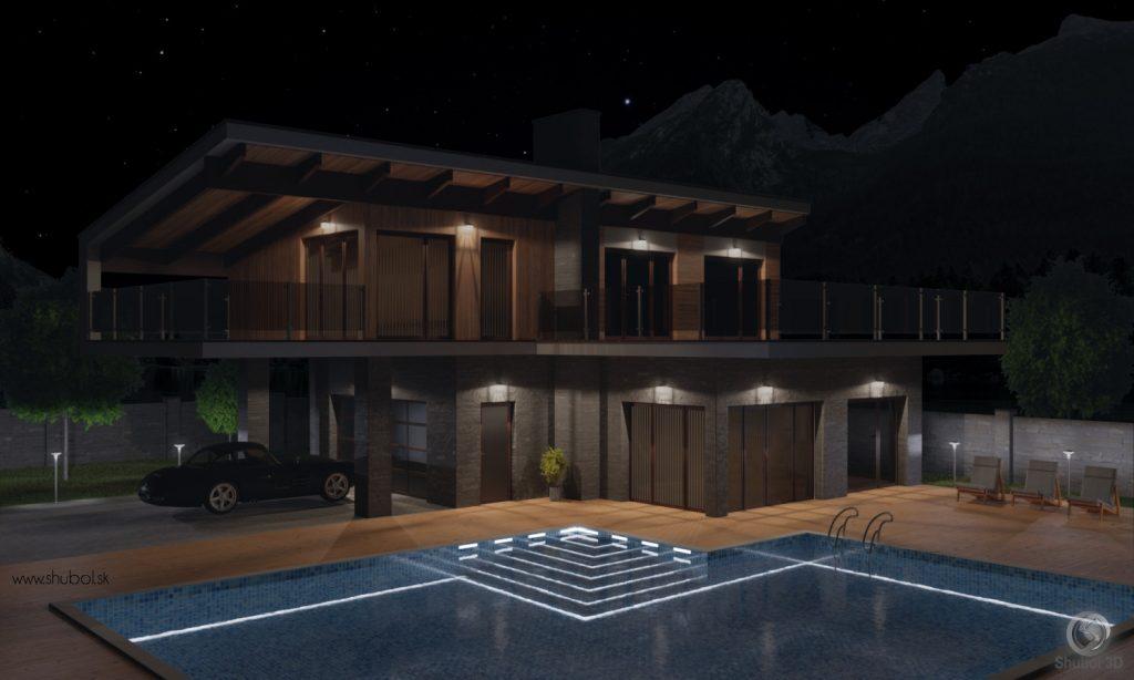 luxury house 3D visualization