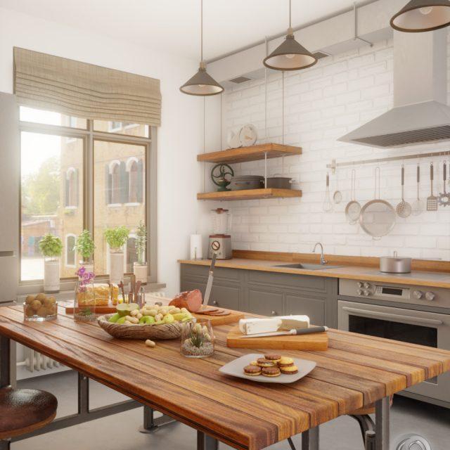 Industrial kitchen 3D visualization